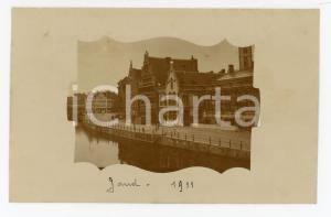 1911 GAND (BELGIUM) Veduta del lungofiume - Fotocartolina vintage