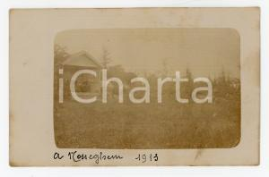 1913 NOSSEGEM (BELGIUM) Donne nel gazebo di un parco - Fotocartolina vintage