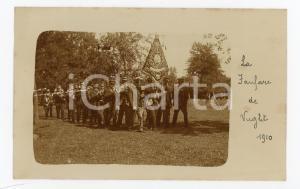 1910 VUGHT (NL) La banda musicale in un parco - Fotocartolina vintage RARA