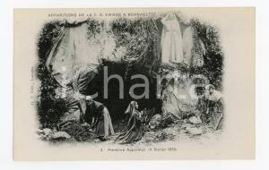 1905ca LOURDES Première apparition de la T.S. Vierge a Bernadette - Postcard FP