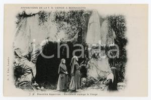 1905ca LOURDES Deuxième apparition de la T.S. Vierge a Bernadette - Postcard FP