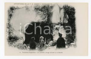 1905ca LOURDES Troisième apparition de la T.S. Vierge a Bernadette - Postcard FP