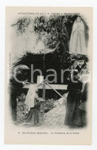 1905 ca LOURDES Dix-Huitième Apparition de la T.S. Vierge a Bernadette Postcard