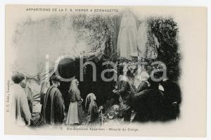 1905ca LOURDES Dix-Septième Apparition de la T.S. Vierge a Bernadette - Postcard