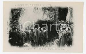 1905 ca LOURDES Apparition de la T.S. Vierge - Miracle à la grotte - Postcard