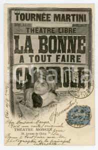 1903 PARIS - THEATRE MONCEY La bonne a tout faire - Vintage Postcard FP VG