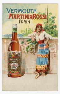 1900ca PARIS - MARTINOTTI Vermouth MARTINI E ROSSI Cartoncino pubblicitario