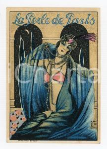 1910 ca BRUXELLES La perle de Paris - Cartoncino pubblicitario ILLUSTRATO
