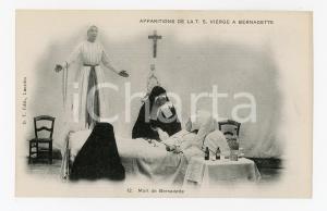 1905 ca LOURDES Apparition de la Vierge - Morte de Bernadette - Carte postale