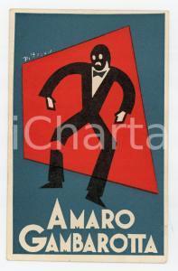 1934 AMARO GAMBAROTTA Cartolina pubblicitaria illustrata PITT - RARA RRR