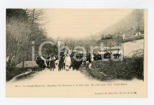 1905 ca FRANCE GRANDE CHARTREUSE Expulsion Chartreux 1903 - En route pour l'exil