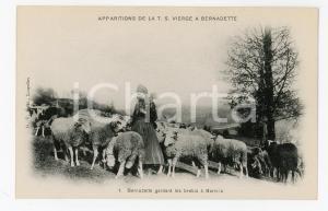 1905 ca LOURDES Apparition Vierge - Bernadette gardant les brebis - Postcard