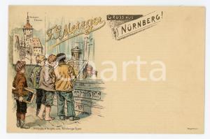 1900 ca NURNBERG - F.G. METZGER Schokoladenladen ILLUSTRATED Postcard FP NV