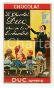 1910 ca ANVERS Le chocolat DUC surpasse tous les chocolats ILLUSTRATED Postcard