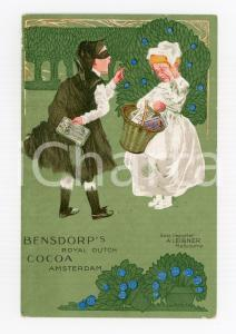1900 ca AMSTERDAM - BENSDORP'S Royal Dutch Cocoa ILLUSTRATED Postcard FP NV