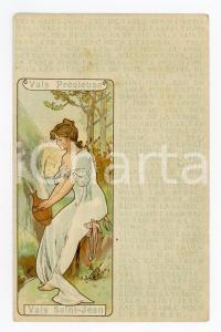 1901 VALS PRECIEUSE - VALS SAINT-JEAN Eau de table - Illustrated postcard FP VG