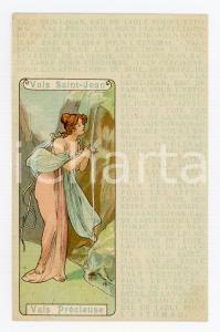 1900 ca VALS PRECIEUSE - VALS SAINT-JEAN Eau de table - Illustrated postcard FP