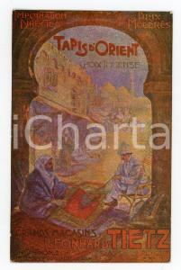 1910 BRUXELLES Grands magasins Leonhard TIETZ Tapis d'orient - Carte postale FP