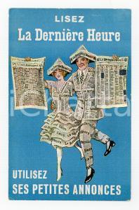 1935 ca BRUXELLES Journal LA DERNIERE HEURE - ILLUSTRATED Postcard FP NV