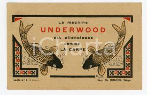1912 UNDERWOOD est silencieuse comme la carpe - Machine à écrire - Carte Postale