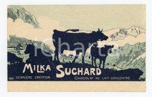 1900 ca MILKA SUCHARD Chocolat au lait concentré - ILLUSTRATED Postcard FP NV