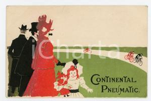 1900 ca CONTINENTAL PNEUMATIC - ILLUSTRATED Postcard FP NV (1)