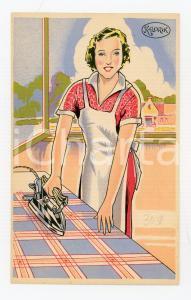 1925ca KALORIK Fer à repasser électrique ILLUSTRATED Postcard FP NV
