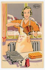 1925ca KALORIK Gauffrier électrique ILLUSTRATED Postcard FP NV
