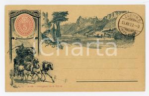 1893 ZURICH SCHWEIZ Jubilaeum Postkarte 50 Jahre - Vintage postcard