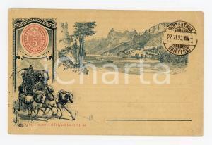 1893 WINTERTHUR SCHWEIZ Jubilaeum Postkarte 50 Jahre - Vintage postcard
