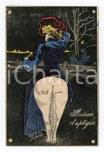 1905 VINTAGE EROTIC Lady riding a horse - Illusion d'optique - Ill. Xavier SAGER