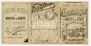 1910ca GENEVE Controle Officiel Facultatif de Montres de Genève - Pieghevole