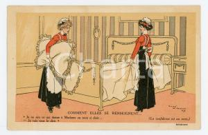 1909 PARIS Crème Malaceine - Illustration by René VINCENT Postcard FP NV
