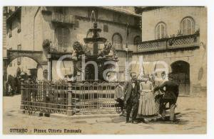 1910 ca VITERBO Piazza Vittorio Emanuele - Cartolina ANIMATA FP NV