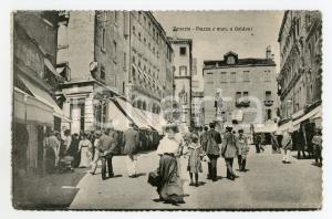 1929 VENEZIA Piazza e Monumento a Carlo GOLDONI Cartolina ANIMATA FP VG