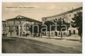1915 ca CERVIGNANO DEL FRIULI Piazza Vittorio Emanuele III - Cartolina ANIMATA