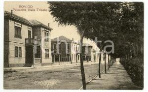 1925 ROVIGO Palazzine di Viale Trieste - Cartolina FP VG