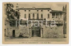 1918 SAN VITO AL TAGLIAMENTO (PN) Villa Conti - Roto *Cartolina FP VG