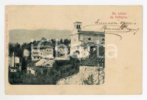 1906 POFFABRO (PN) Veduta del borgo - Cartolina FP VG