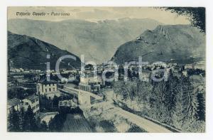 1928 VITTORIO VENETO (TV) Panorama con ferrovia - Cartolina FP VG