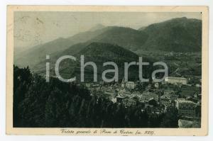 1928 PIEVE DI CADORE (BL) Panorama del paese - Cartolina FP VG