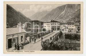 1936 (ma 1915 ca) PONTEBBA Vecchio confine italo-austriaco - Cartolina FP VG