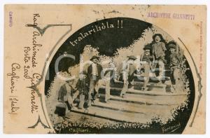 1908 COSTUMI SARDEGNA CAGLIARI E Tralariliola!! *Cartolina ill. FORLANINI RARA