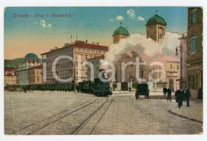 1922 TRIESTE Treno in Riva 3 Novembre - Cartolina ANIMATA FP VG