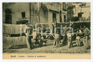 1920 ca AMALFI (SA) Fabbrica di maccheroni - Cartolina ANIMATA FP NV