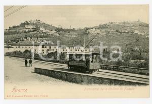 1900ca TRANVIA FIRENZE - FIESOLE Tram elettrico n.9 - Cartolina ANIMATA FP NV