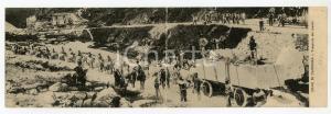 1913 CAVE DI CARRARA Trasporto dei marmi *Cartolina PANORAMICA FP VG