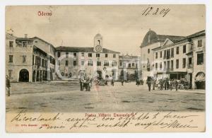 1904 ODERZO (TV) Piazza Vittorio Emanuele II - Cartolina ANIMATA FP VG