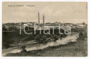 1912 ODERZO (TV) Panorama della città - Cartolina FP VG