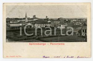 1898 SPILIMBERGO (PN) Panorama del paese - Cartolina FP VG